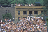 View of Full Bleachers, Full of Fans During a Professional Baseball Game, Wrigley Field, Illinois Photographic Print