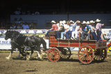 Wagon Train, Fiesta Rodeo, Stock Horse Show, Earl Warren Showgrounds, Santa Barbara, CA Photographic Print
