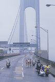 Support Staff for Runners on Verrazano Bridge, Ny City Marathon Photographic Print