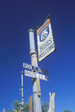 A Vertical Route 66 Sign Photographic Print