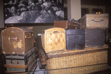 Display of Old Trunks and Suitcases at Ellis Island National Park, New York City, New York Photographic Print