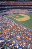 Long View of Diamond and Bleachers During Professional Baseball Game, Shea Stadium, NY Photographic Print
