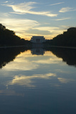 The Lincoln Memorial at Sunset and Reflecting Pool in Washington D.C. Photographic Print