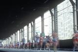 Runners Crossing 1st Avenue/59th Street Bridge, Ny City, Ny Marathon Photographic Print
