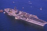 USS Kennedy, New York Harbor, New York City, New York, July 4, 1986 Photographic Print