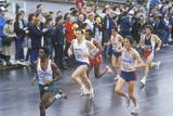 Runners in Rain, NY City Marathon, Brooklyn, NY Photographic Print