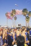Runners at Start of Los Angeles Marathon, Los Angeles, CA Photographic Print