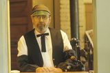 Ticket Taker in Full Costume at Standard Gauge Steam Train Attraction, Eureka Springs, Ar Photographic Print