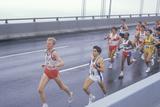Group of Runners Crossing Verrazano Bridge at the Beginning of the Ny Marathon Photographic Print