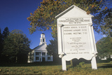 A Religious Meeting House in Westminster Connecticut Photographic Print