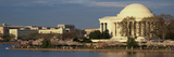 Panoramic View of Jefferson Memorial and Cherry Blossoms in Spring, Washington D.C. Photographic Print