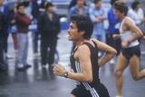 Close-Up of Runner in NY City Marathon, Brooklyn, NY Photographic Print
