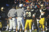 Conversations Between Referees and College Football Players During Game, West Point, NY Photographic Print