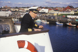 The Captain of the Bluenose Atop the Ferry to Guide it into the Dock, Yarmouth, Nova Scotia Photographic Print