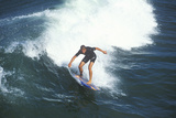 Surfer in Small Wave, Huntington Beach, CA Photographic Print