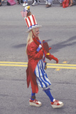 Woman Dressed as Uncle Sam in Parade, Cayucos, California Photographic Print