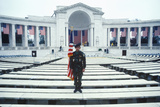 Veteran Holding Flag, Arlington National Cemetery, Washington, D.C. Photographic Print