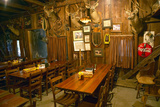 Interior of Rustic Old Restaurant with Hunting Décor Photographic Print