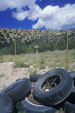 A Junk Yard in Arizona Photographic Print