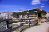Old Log Building on Wolf Ranch, Arches National Park, Ut Photographic Print