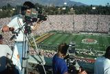 CAmeramen Covering the Rose Bowl Game, Pasadena CA Photographic Print