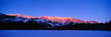 This Is the Snake Mountain Range with an Alpen Glow on the Mountains Photographic Print