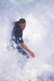 Close-Up of Surfer in Wave, Huntington Beach, CA Photographie