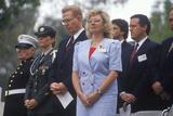 Veteran's Day Ceremony, Veteran's National Cemetery, Los Angeles, California Photographic Print