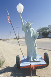 Replica of the Statue of Liberty on the Roadside, California Photographic Print