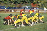 Micro-League Football Players, Aged 8 to 11 During Game, Plainfield, CT Photographic Print