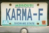 """Karma"" Vanity License Plate in Bourbon, Missouri Photographic Print"