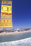 Sponsors Signs on Huntington Beach, Ca, Pro Surfing Event Photographic Print