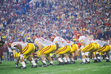 View of College Football Game, Rose Bowl, Los Angeles, CA Photographic Print