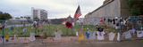 Temporary Memorial for 1995 Oklahoma City Bombing with Flags, Pictures and Personal Notes on Fence Photographic Print