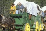 Living History Participants in Wagon Train Near Sacramento, CA Photographic Print