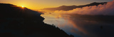 This Is Cape Horn on the Columbia River Gorge at Sunrise. There Is a Morning Mist over the River Photographic Print