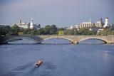 Rowing on Charles River, Harvard and Cambridge, Massachusetts Photographic Print