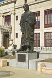 Statue of Christopher Columbus at City Hall in Columbus, Ohio Lámina fotográfica