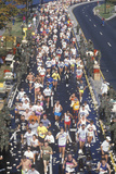 Long View from Above of Runners in Marathon, Washington, D.C. Photographic Print