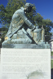 Statue of Thomas Paine Writing 'Common Sense', Morristown, New Jersey Photographic Print