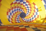Colorful Hot Air Balloon Inflating Photographic Print