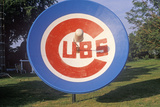 Satellite Dish with Chicago Cubs Emblem in South Bend, IN Photographic Print
