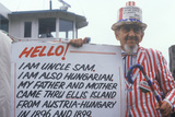 Hungarian/American Man Dressed as Uncle Sam, Ellis Island, New York City Photographic Print
