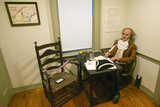Reenactment with Prop of Thomas Paine at Work in His Home in New Rochelle, New York Photographic Print