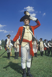 Participant Posing as a British Army Officer During American Revolution Reenactment Photographic Print