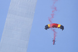 Parachutist over Arch with Smoke, St. Louis, Missouri Photographic Print