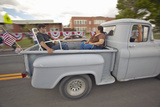 Couple in the Back of a Pickup Truck for the Independence Day Parade, in Lima Montana Photographic Print