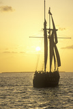 The Sea Wolf Takes a Sunset Cruise in Key West, Florida Photographic Print