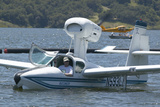 Amphibious Seaplane Taking Off from Lake Casitas, Ojai, California Photographic Print