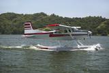 Amphibious Seaplane Landing on Lake Casitas, Ojai, California Photographic Print